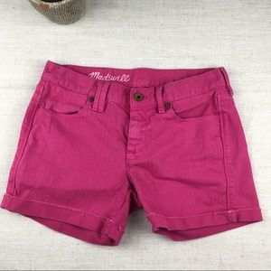 Madewell Hot Pink Cutoff Shorts. Size 25